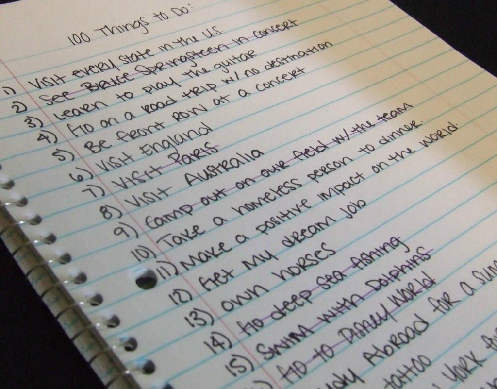 7 choses que vous voulez faire avant de mourir
