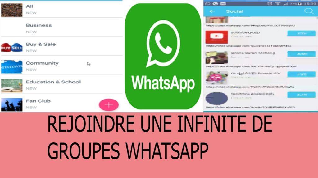 Comment on peut  rejoindre des Groupes WhatsApp