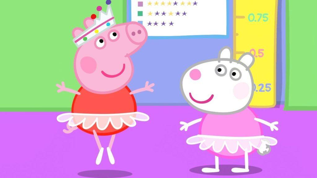 Peppa Pig Version Françai Est Un Meilleur Polyglotte Pour Une Interaction Entre Enfants.