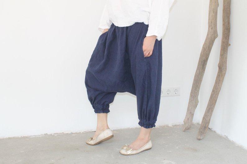 Sarouel pour le yoga, pantalon bouffant confortable et zen