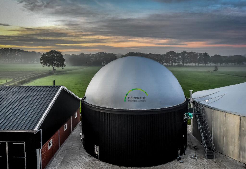 Membrane Systems Europe, fabricant de gazomètres à double membrane