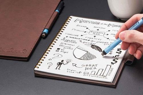 Le cahier réutilisable intelligent Soyez responsable avec l'environnement et avec votre poche!