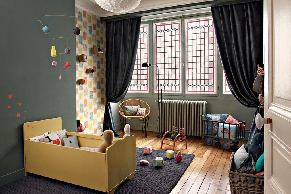 Le style vintage dans la chambre d'enfant